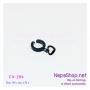 C4-184x2 ต่างหูหนีบแบบห่วงเต็มวง สีดำ ห้อยหัวใจโปร่ง (1 คู่)