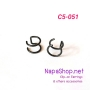 C5-051-black ต่างหูหนีบ ที่หนีบใบหู (Ear Cuff) แบบห่วงคู่ สีดำ